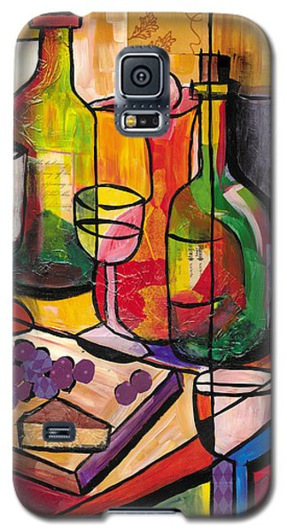 Still Life Of Fruit Wine And Cheese Galaxy S5 Case