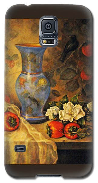 Galaxy S5 Case featuring the painting Still Life Of Persimmons  by Donna Tucker