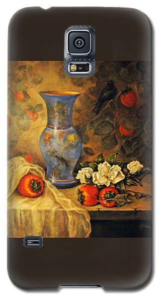 Still Life Of Persimmons  Galaxy S5 Case by Donna Tucker
