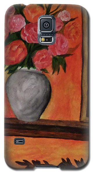 Galaxy S5 Case featuring the painting Still Life On The Mantle by Christy Saunders Church