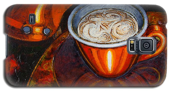 Galaxy S5 Case featuring the painting Still Life With Bicycle Saddle by Mark Howard Jones