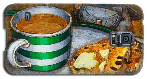 Galaxy S5 Case featuring the painting Still Life With Green Touring Bike by Mark Howard Jones