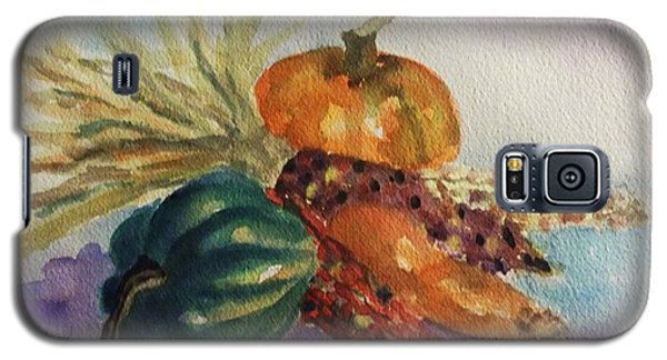 Galaxy S5 Case featuring the painting Still Life With Indian Corn by Ellen Levinson