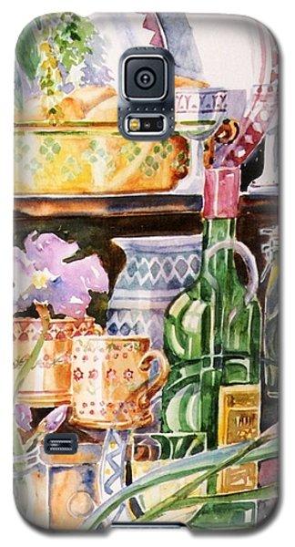 Still Life With Irises Galaxy S5 Case by Trudi Doyle