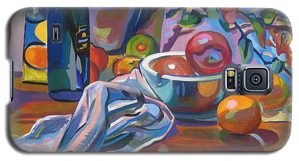 Galaxy S5 Case featuring the painting Still Life With Oranges by Clyde Semler