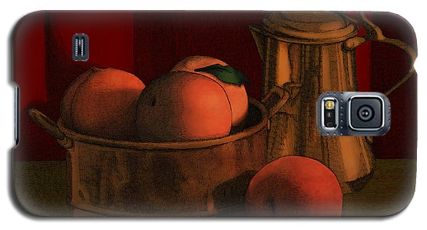 Still Life With Peaches Galaxy S5 Case by Meg Shearer