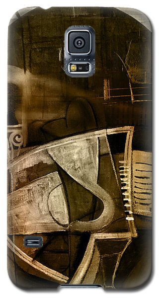 Galaxy S5 Case featuring the digital art Still Life With Piano And Bust by Kim Gauge