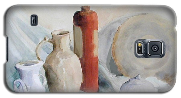 Watercolor Still Life With Pottery And Stone Galaxy S5 Case
