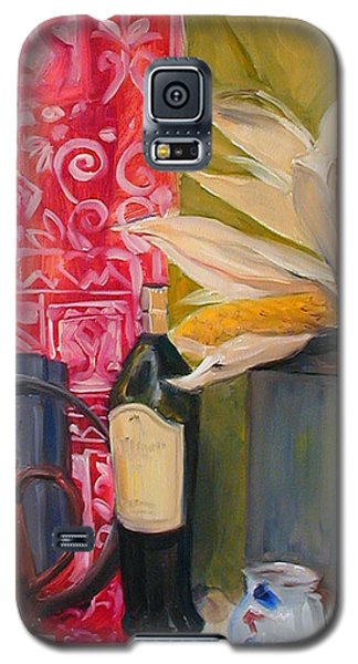 Still Life With Red Cloth And Pottery Galaxy S5 Case by Greta Corens