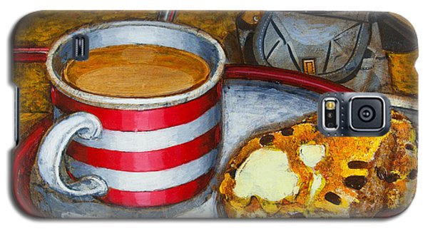Galaxy S5 Case featuring the painting Still Life With Red Touring Bike by Mark Howard Jones