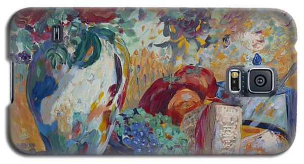 Galaxy S5 Case featuring the painting Still Life With Roses by Avonelle Kelsey