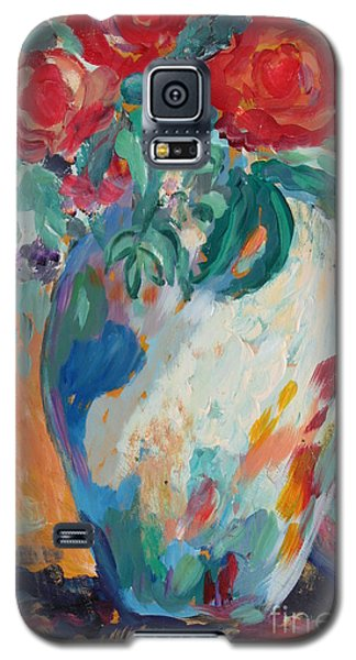 Galaxy S5 Case featuring the painting Still Life With Roses Partial View by Avonelle Kelsey