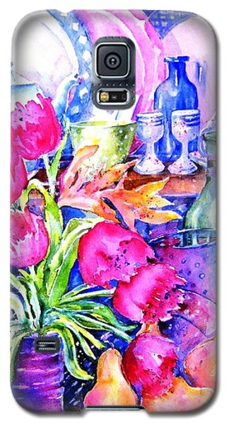Galaxy S5 Case featuring the painting Still Life With Tulips  by Trudi Doyle