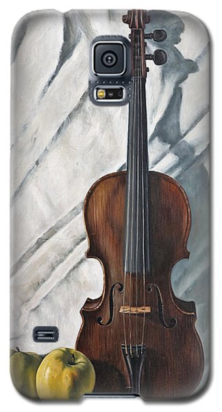 Violin Galaxy S5 Case - Still Life With Violin by John Lautermilch