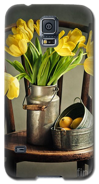 Tulip Galaxy S5 Case - Still Life With Yellow Tulips by Nailia Schwarz