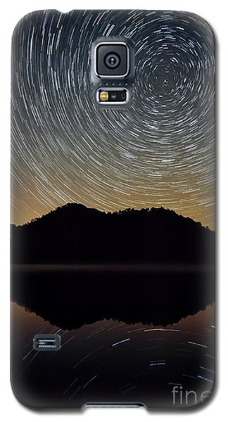 Still Water Star Trails Galaxy S5 Case by Anthony Heflin