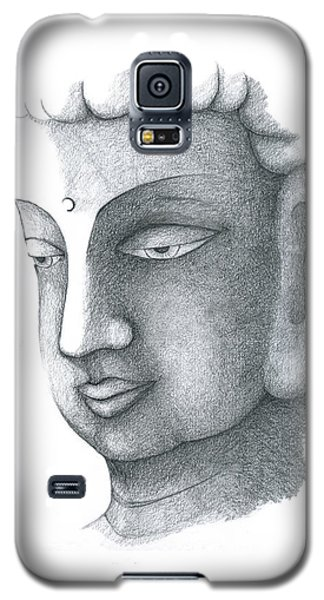 Galaxy S5 Case featuring the drawing Stillness by Keiko Katsuta