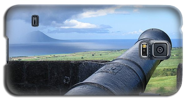 Galaxy S5 Case featuring the photograph St.kitts Nevis - On Guard by HEVi FineArt