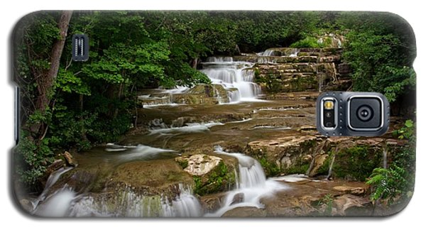 Galaxy S5 Case featuring the photograph Stockbridge Falls by Dave Files