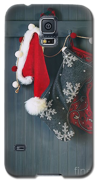 Stockings Hanging On Hooks For The Holidays Galaxy S5 Case