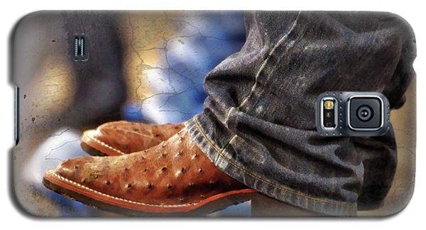 Ostrich Galaxy S5 Case - Stockshow Boots IIi by Joan Carroll
