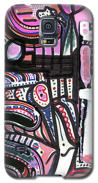 Galaxy S5 Case featuring the drawing Stomach Flu by Don Koester