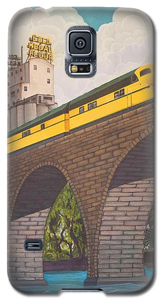 Galaxy S5 Case featuring the painting Stone Arch Bridge by Jude Labuszewski