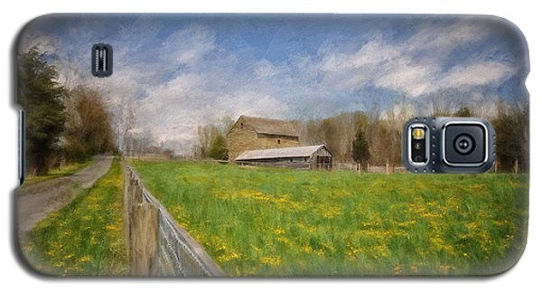 Stone Barn On A Spring Morning Galaxy S5 Case