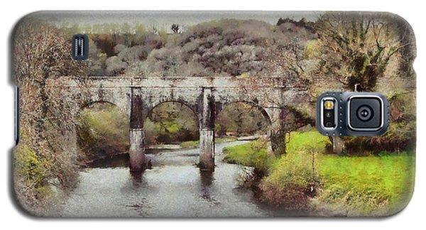 Galaxy S5 Case featuring the digital art Stone Bridge by Kai Saarto