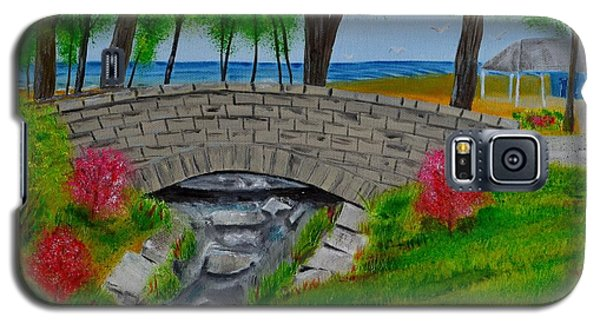 Galaxy S5 Case featuring the painting Stone Bridge by Melvin Turner