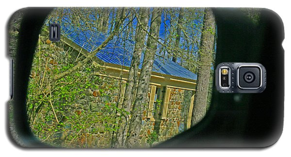 Galaxy S5 Case featuring the photograph Stone Cabin Reflection by Andy Lawless