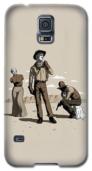 Galaxy S5 Case featuring the digital art Stone-cold Western by Ben Hartnett