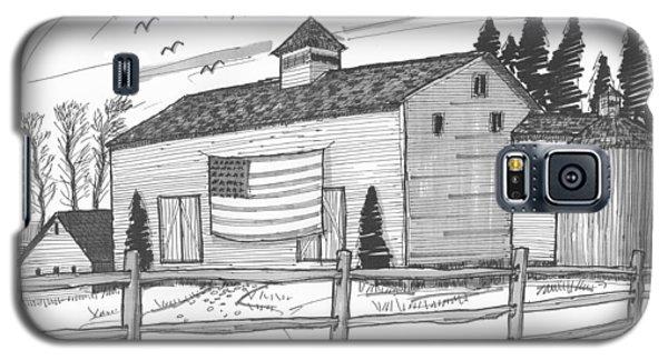 Stone Ridge Barn With Flag Galaxy S5 Case