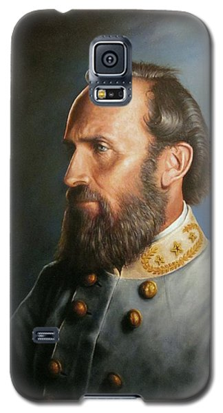 Galaxy S5 Case featuring the painting Stonewall Jackson by Glenn Beasley