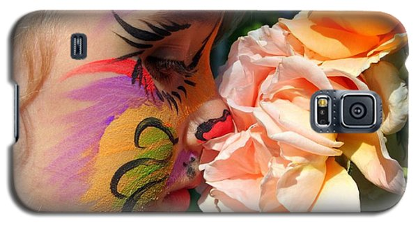 Galaxy S5 Case featuring the photograph Stop And Smell The Roses by Debra Kaye McKrill