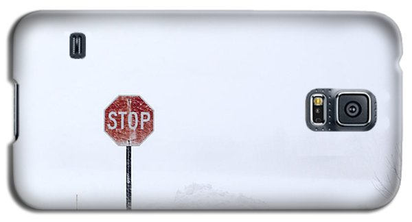 Stop For Snowstorm Galaxy S5 Case
