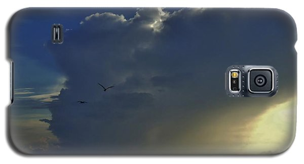 Galaxy S5 Case featuring the photograph Storm Across Delaware Bay by Ed Sweeney