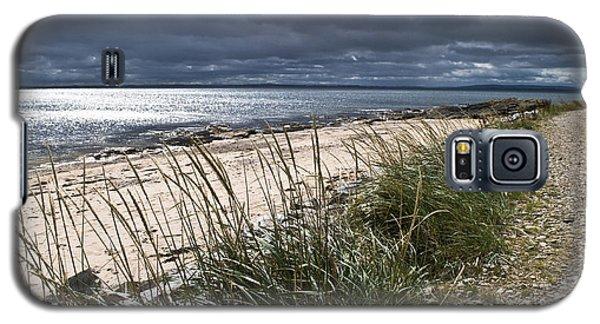 Galaxy S5 Case featuring the photograph Storm Arising Dornoch Beach Scotland by Sally Ross