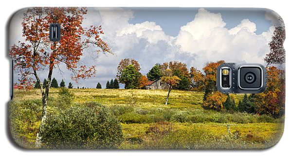 Galaxy S5 Case featuring the photograph Storm Clouds Over Country Landscape by Christina Rollo