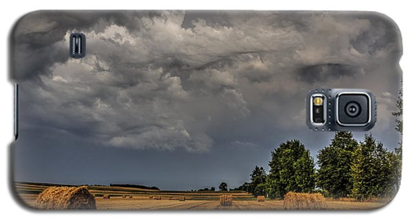 Storm Clouds Over Harvested Field In Poland 2 Galaxy S5 Case