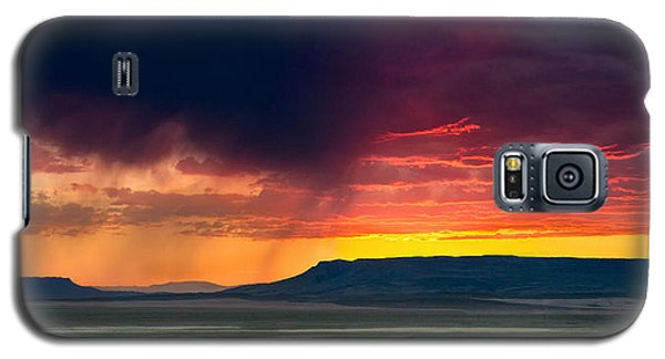Storm Clouds Over Square Butte Galaxy S5 Case