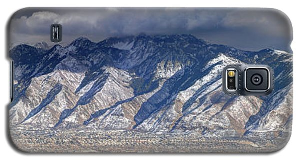 Storm Front Passes Over The Wasatch Mountains And Salt Lake Valley - Utah Galaxy S5 Case