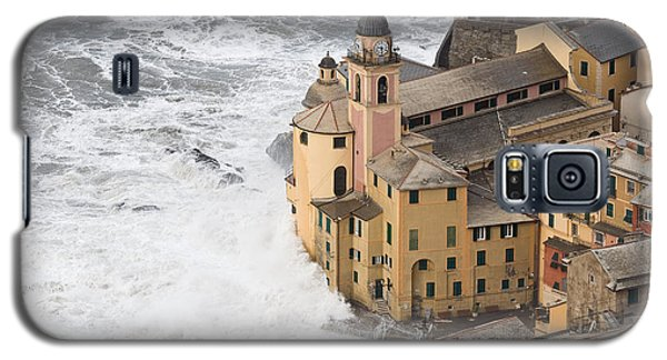 Galaxy S5 Case featuring the photograph Storm In Camogli by Antonio Scarpi