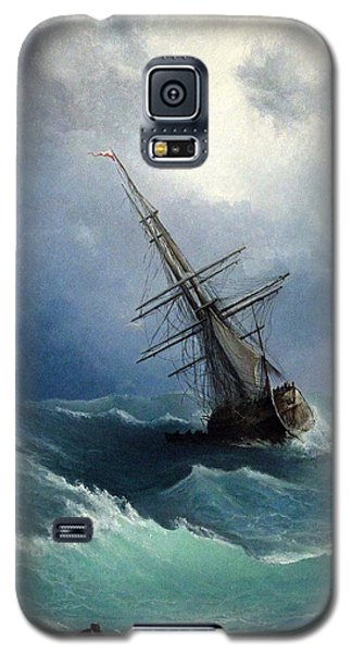 Galaxy S5 Case featuring the painting Storm by Mikhail Savchenko