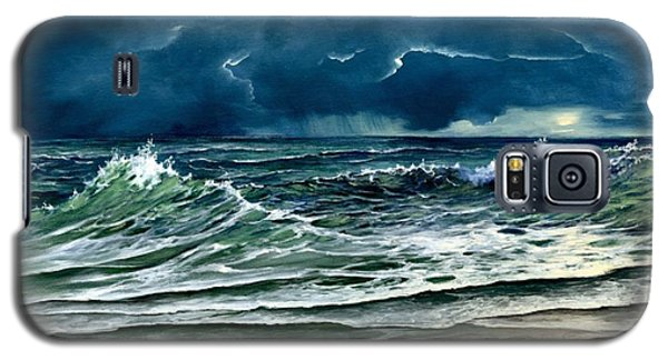 Galaxy S5 Case featuring the painting Storm Off Yucatan Mexico by Lynne Wright
