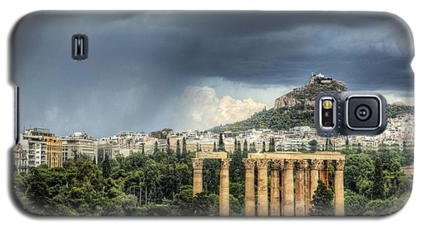 Galaxy S5 Case featuring the photograph Storm Over Athens by Micah Goff