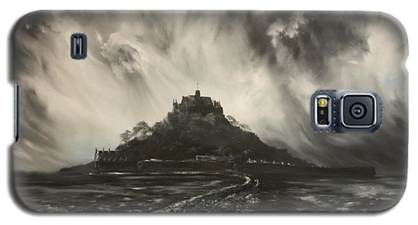 Galaxy S5 Case featuring the painting Storm Over St Michaels Mount Cornwall by Jean Walker