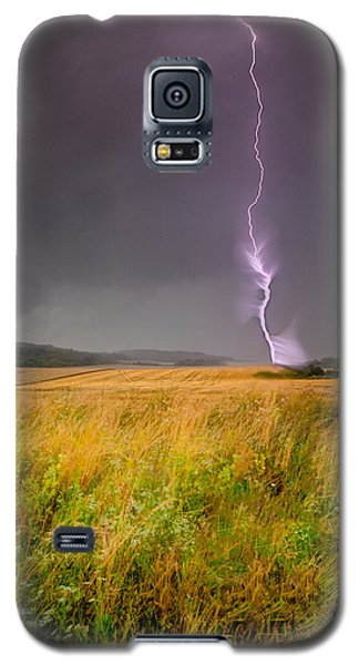 Storm Over The Wheat Fields Galaxy S5 Case by Eti Reid