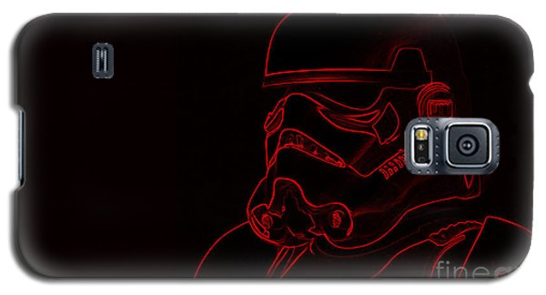 Galaxy S5 Case featuring the digital art Stormtrooper In Red by Chris Thomas