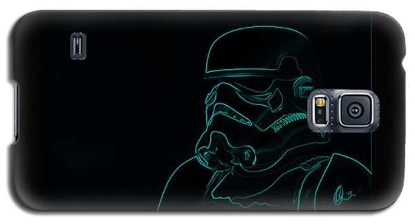 Stormtrooper In Teal Galaxy S5 Case